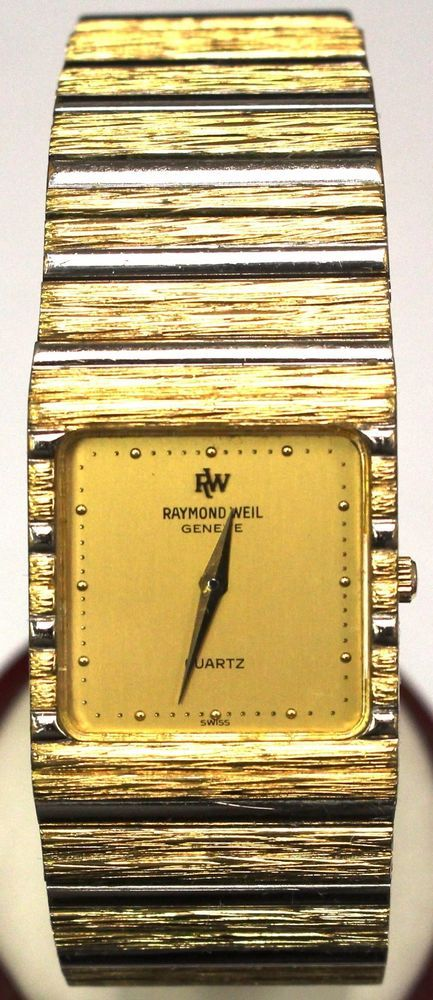 Raymond Weil Geneve Quartz 9056 18k Gold Electroplated