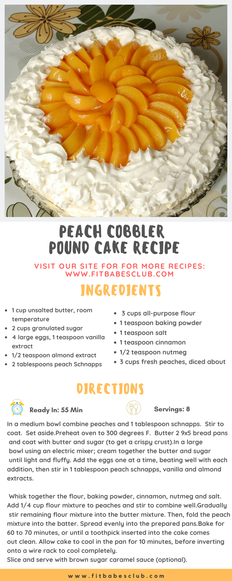 Peach Cobbler Pound Cake Recipe #peachcobblerpoundcake Here is Peach Cobbler Pound Cake recipe. Serving for 8 Person. #peachcobblerpoundcake