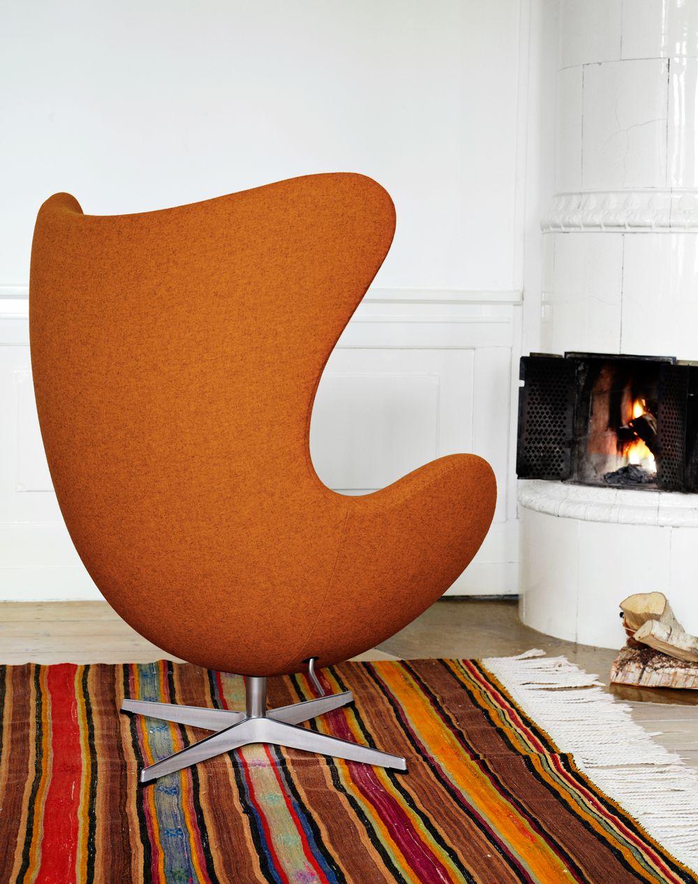 5 + 1 Tijdloze top designstoelen - Egg Chair – Arne #Jacobsen (1958): Oorspronkelijk ontwierp Arne Jacobsen de #Egg #Chair voor de lobby en receptie van het Royal Hotel in Kopenhagen.