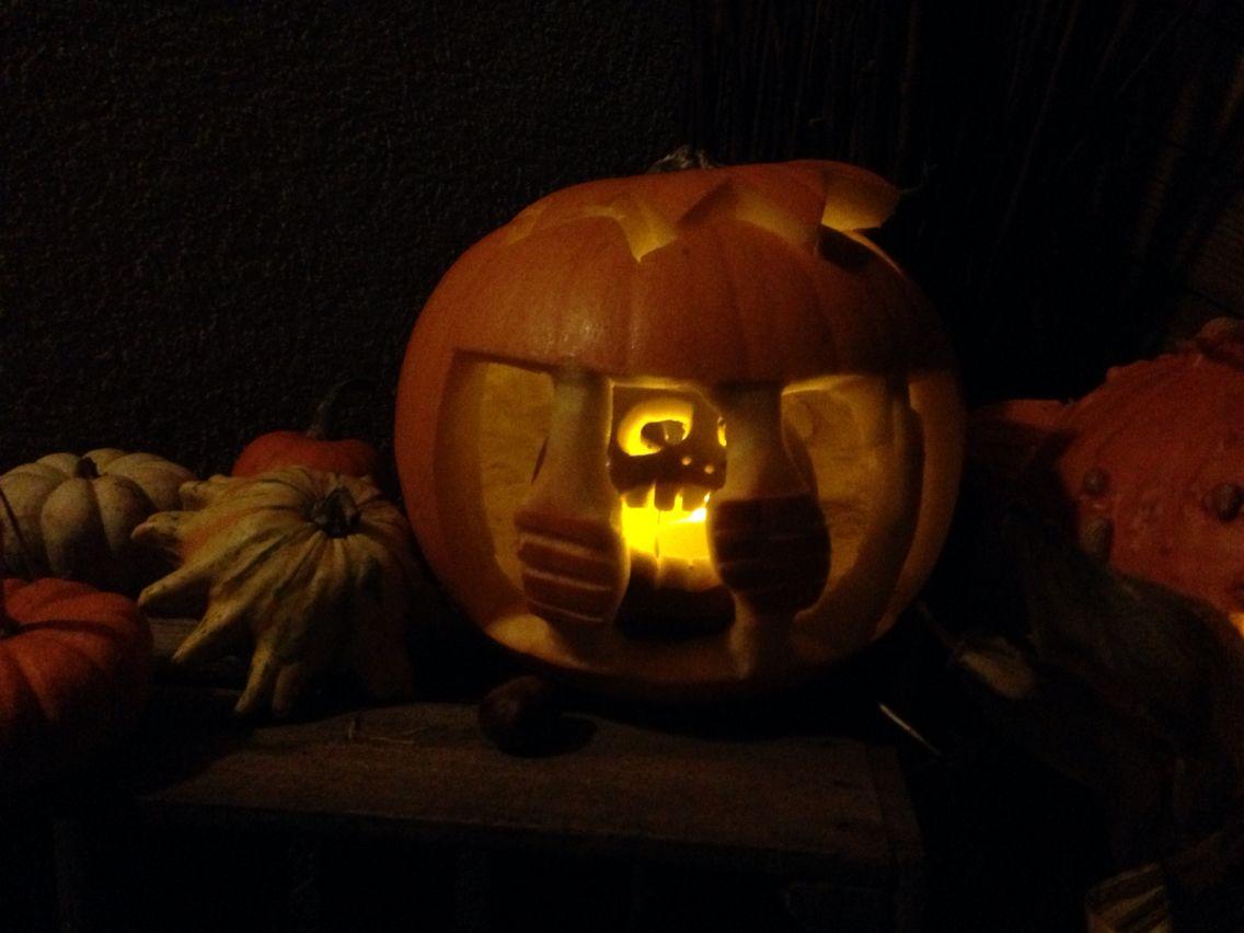 k rbis schnitzen halloween 2015 gef ngnis pumpkin. Black Bedroom Furniture Sets. Home Design Ideas