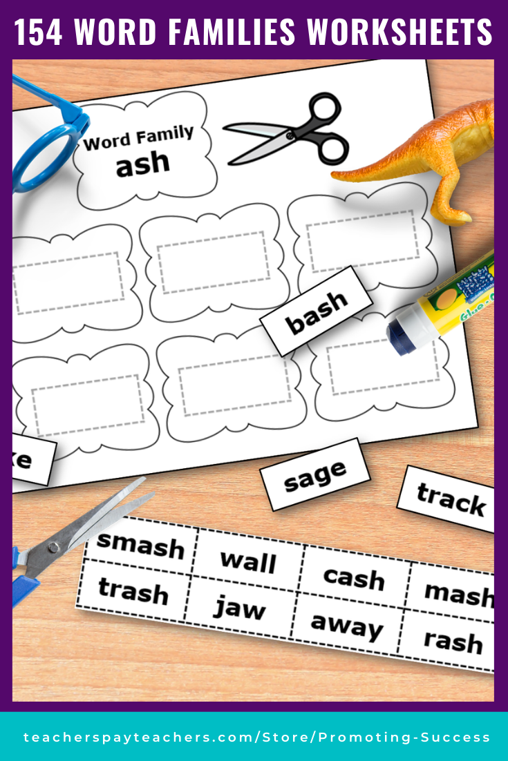 small resolution of Word Family Activities for Kindergarten 1st Grade - Printable Activities   Word  families