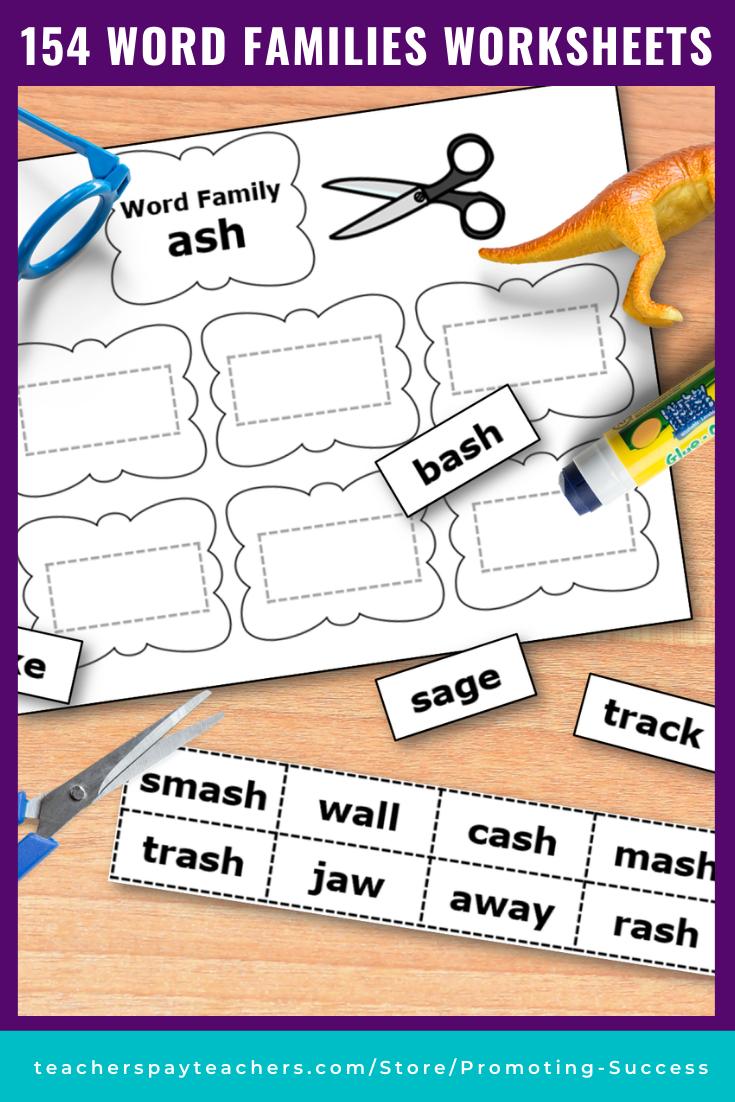 small resolution of Word Family Activities for Kindergarten 1st Grade - Printable Activities   Word  families