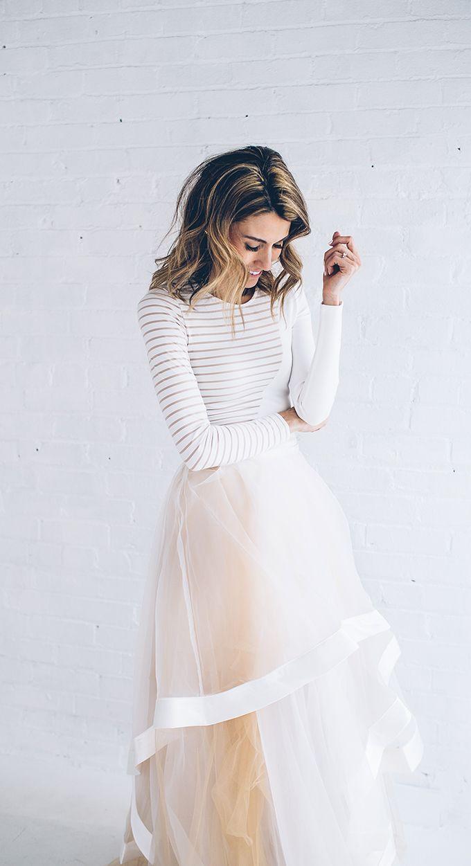 white tulle dress #prom ➳ pinterest: luvdeza ➳