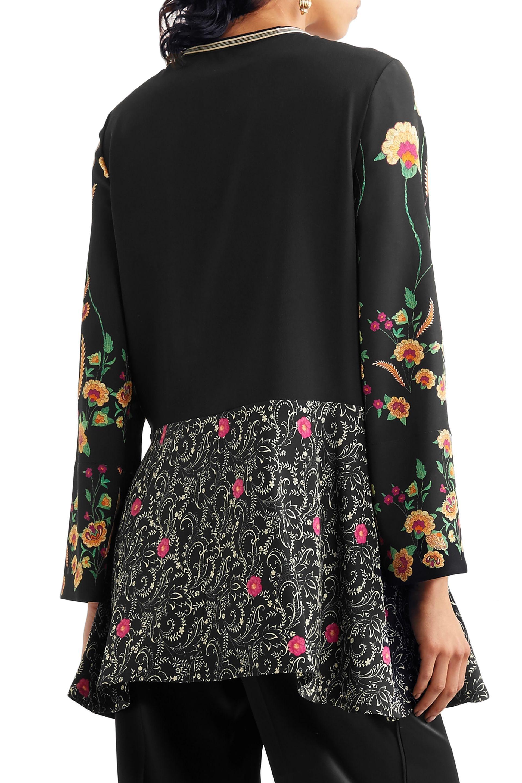 ad583c076d6e0 Floral-print silk crepe de chine peplum blouse