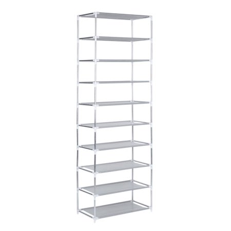 Hillda Metal Shoes Rack 3 4 5 6 7 10 Layer Shoes Stand Removable Dust Shelves Storage Organizer Fabric Shelf Holder Stackable Closet Shoe Rack Storage Shelves Organize Fabric