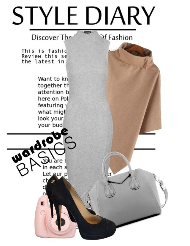 """Midi Dress"" by maidaa12 ❤ liked on Polyvore featuring Topshop, Givenchy and Chanel"