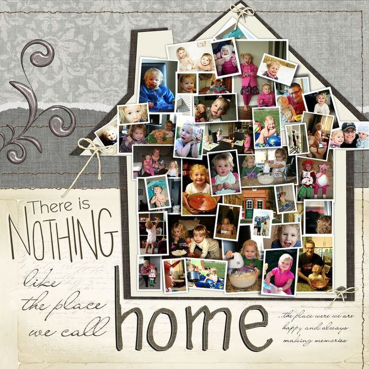 Scrapbook Layouts with Multiple Photos 12X12 layout