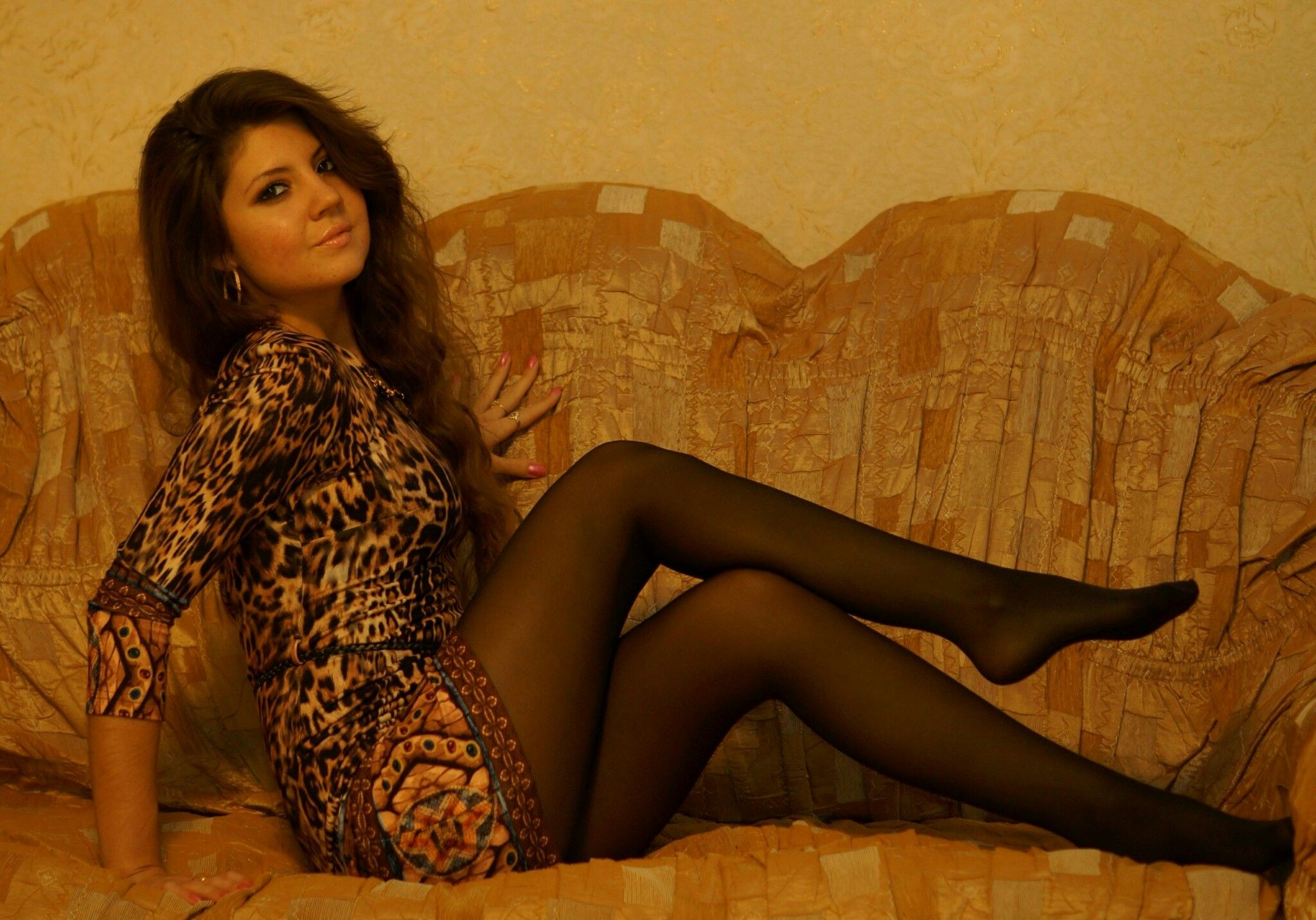 Русские сексуальные девушки в колготках