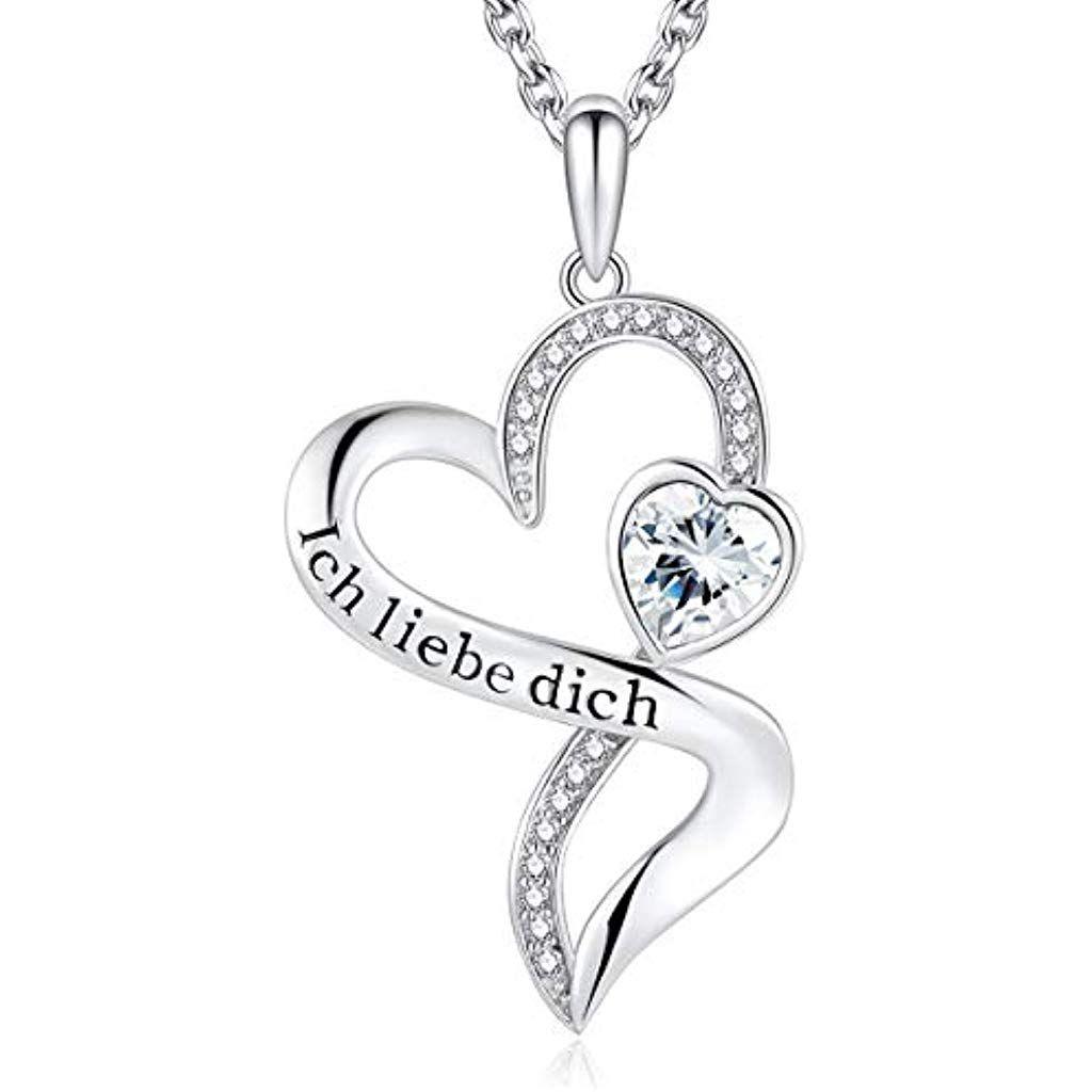 Damen-Schmuck silberne Halskette Herz Silber Katze Frau Geschenk zu Weihnachten