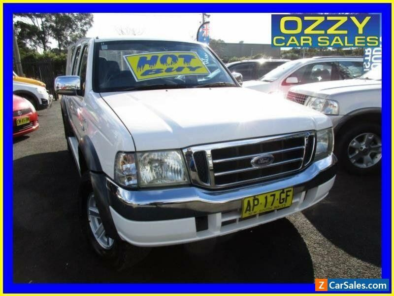 2006 Ford Courier Ph Xlt 4x4 White Automatic 5sp A Crew Cab Pup