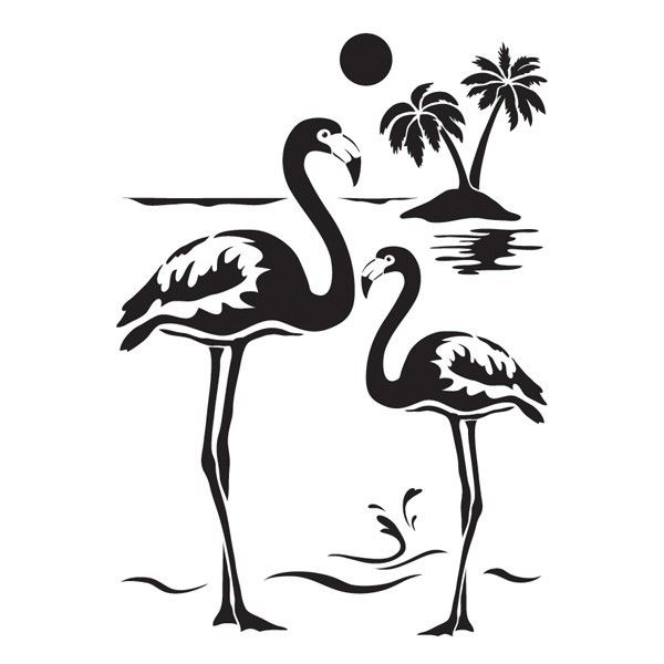 laser kunststoff schablone din a4 selbstklebend flamingos plotter pinterest schablonen. Black Bedroom Furniture Sets. Home Design Ideas