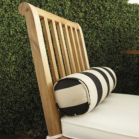 Outdoor Piped Round Bolster