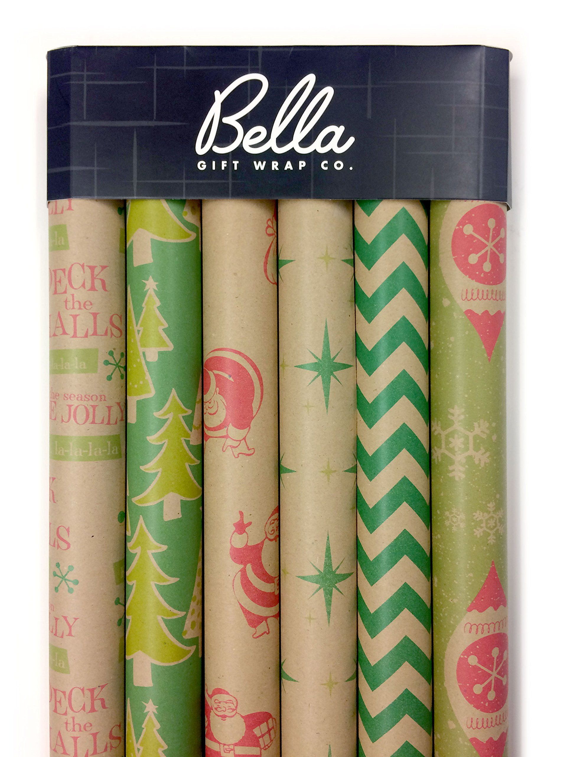 Kraft Retro Wrapping Paper Set 6 Rolls Multiple Patterns 30 X 120 Per Roll Details Can Be Christmas Wrapping Paper Christmas Wrapping Gift Wrapping Paper
