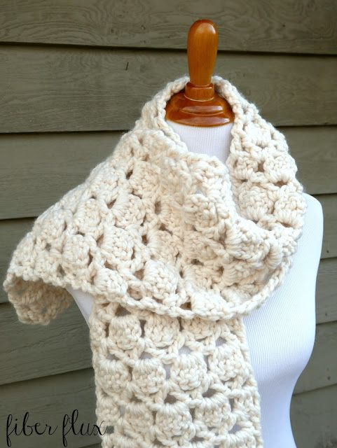 Free Crochet Patterngar Cookie Scarf Fiber Fluxventures