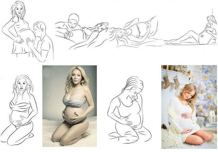 позы для фото беременных