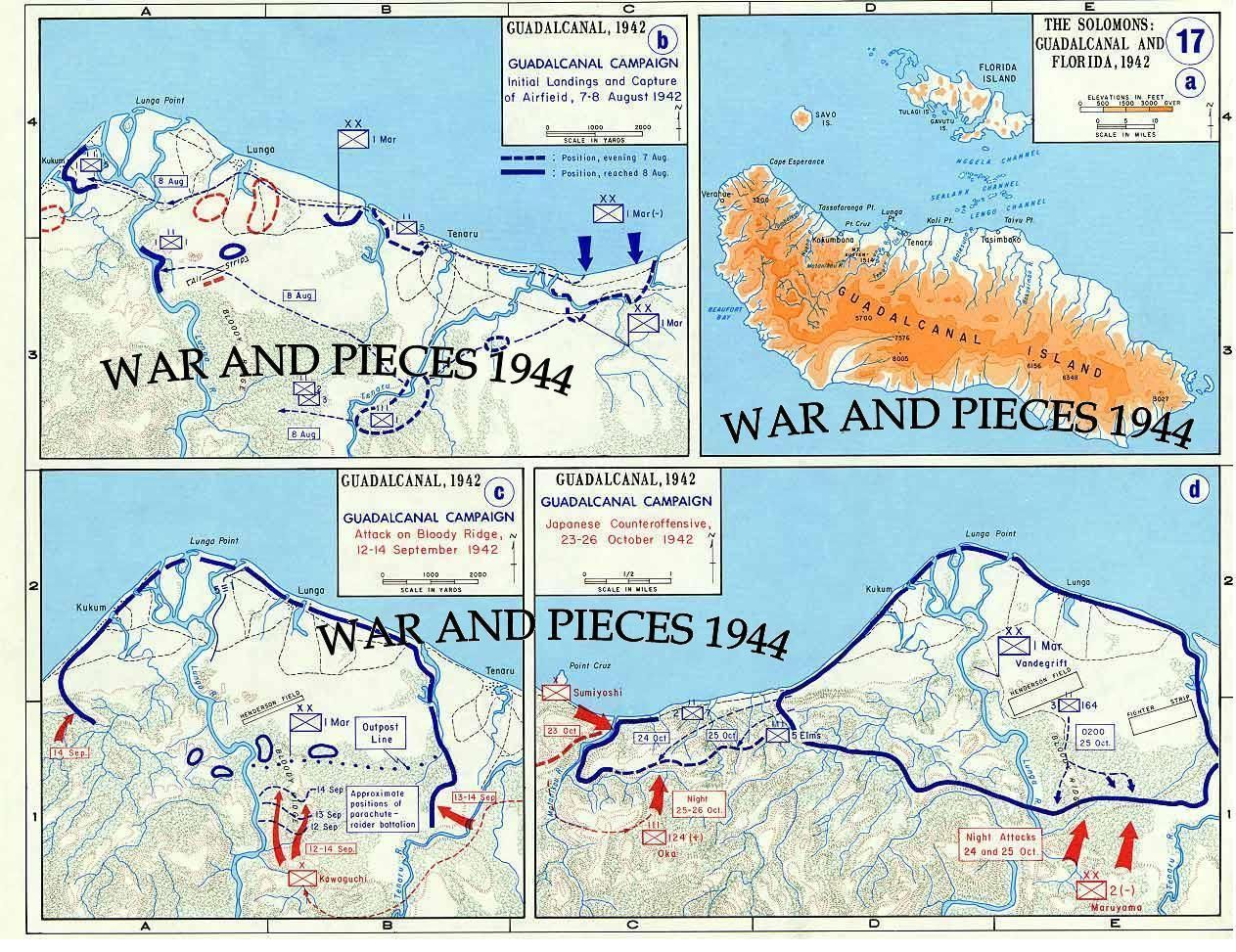 $4 - 1:6 Scale Ww Ii Pacific War Map Set #ebay #Collectibles ...