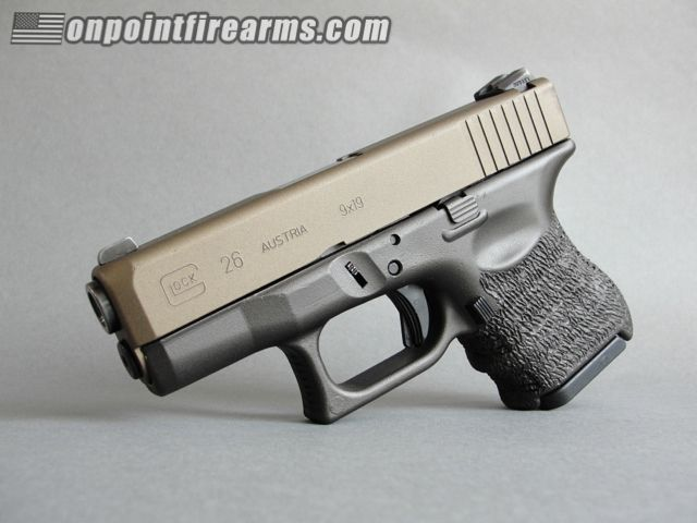 Glock 26 With Burnt Bronze Slide And Dark Dark Bronze Cerakote Frame