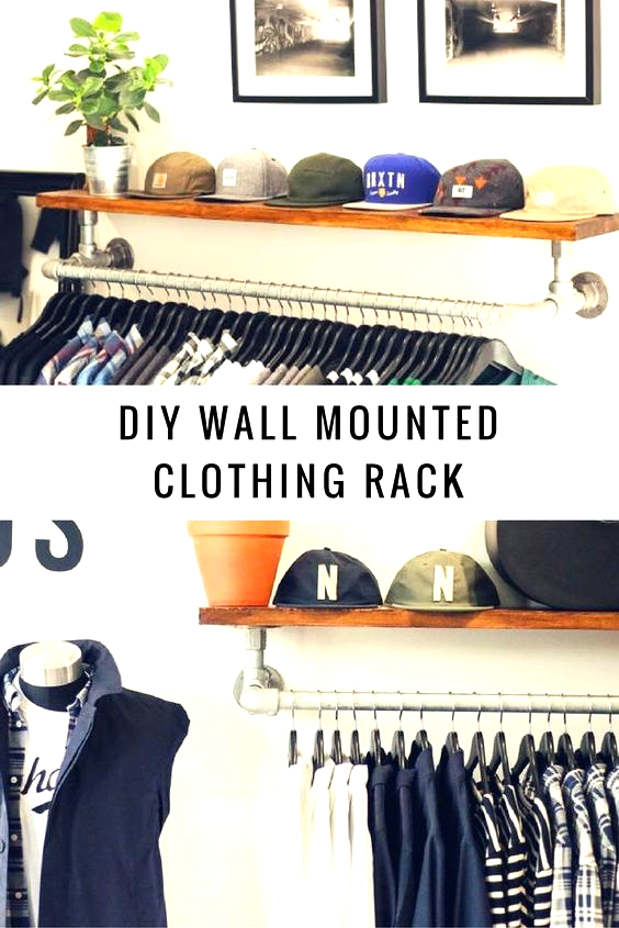 Pin By Yasmin Saucedo On House In 2020 Wall Mounted Clothing Rack Diy Clothes Rack Clothing Rack