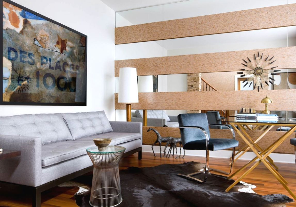 Big Fancy Mirrors   Accent walls in living room, Wall ...