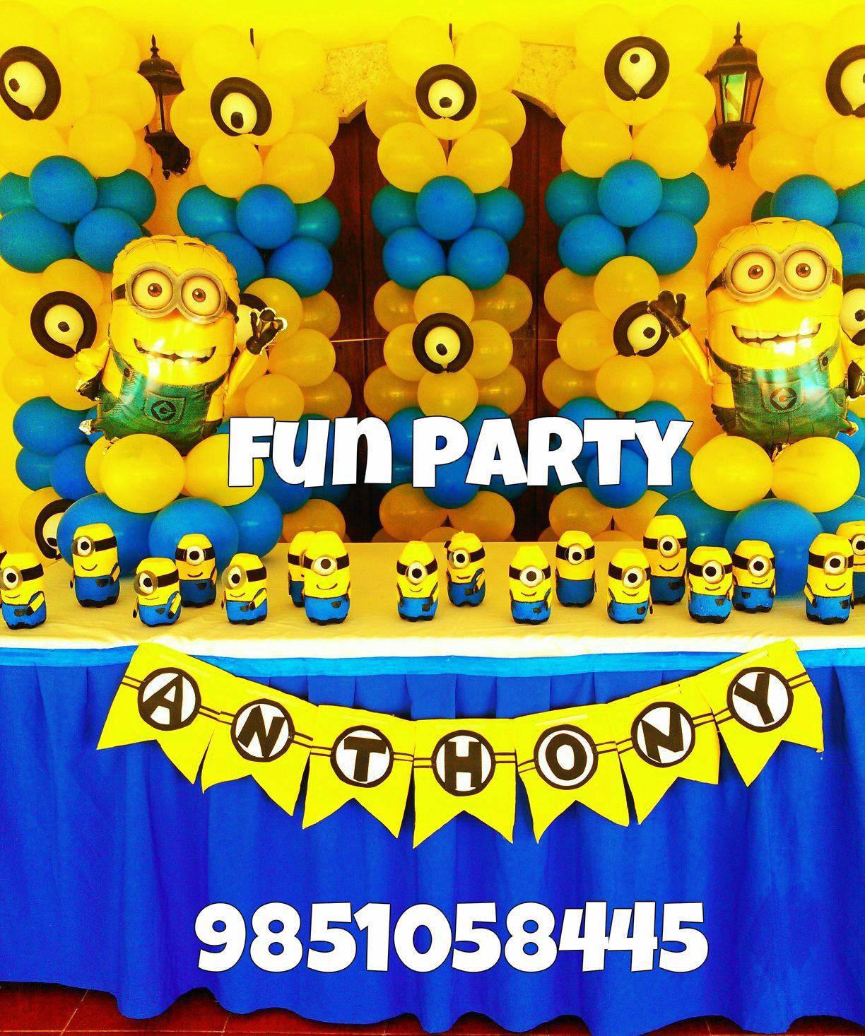 Minions Decoracion Para Fiestas ~ fiesta de minions!!  fiestas infantiles  Pinterest  Minions and