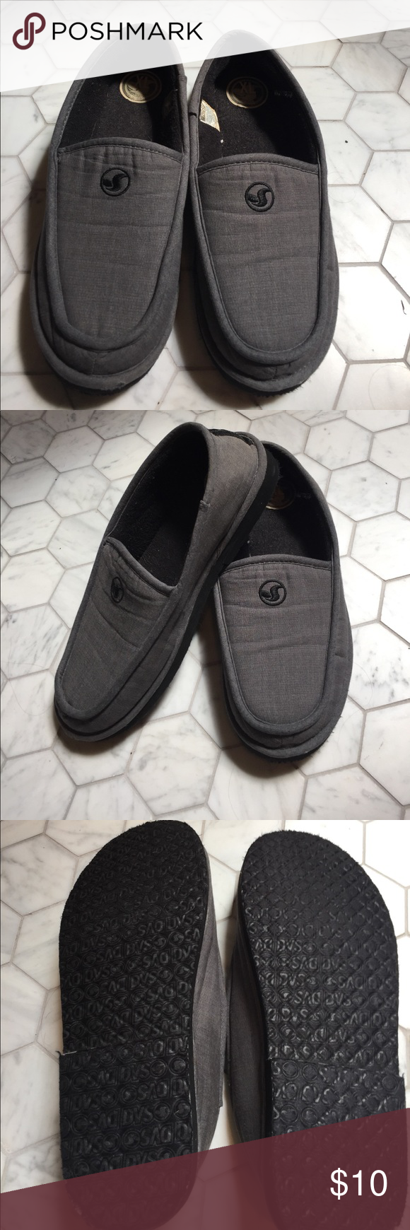d62d1c68bd09 DVS men s XL Francisco slipper Gently used slippers that just don t fit me  right and they need to go somewhere where they ll be loved dvs Other