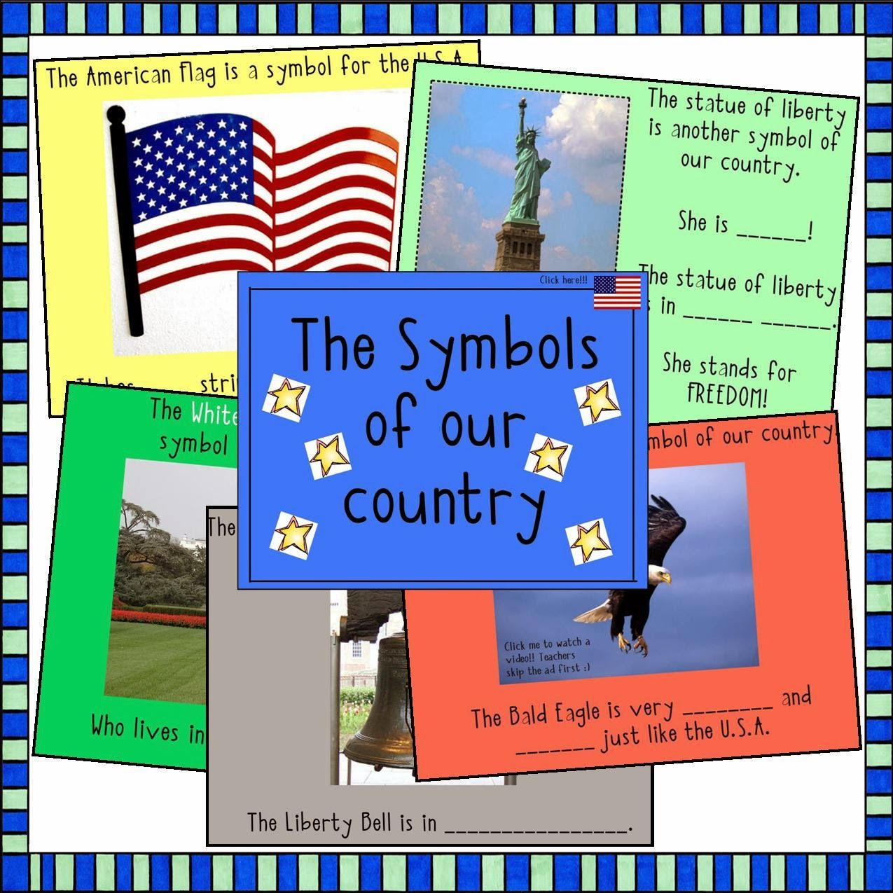 Kindergarten Calendar For Promethean Board : Promethean board flipchart on the us symbols teaching