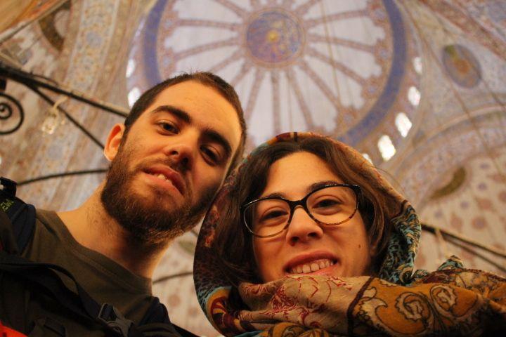 En la Mezquita Azul, Estambul