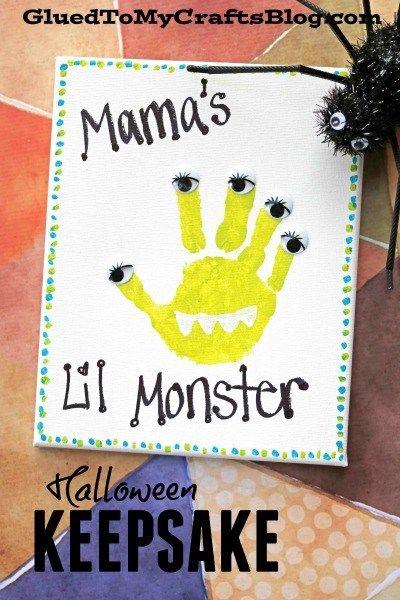 FIVE Uncomplicated Halloween Keepsakes #halloweencraftsfortoddlers