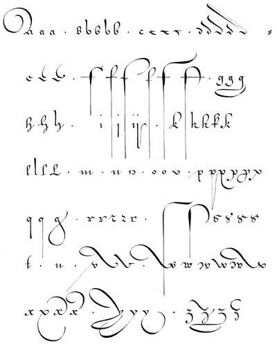 Assez batarde calligraphy alphabet | calligraphie, lettre flamande  ZZ03
