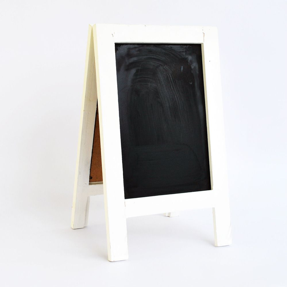 Image Of White Small Standing Wooden Blackboard
