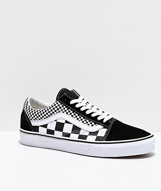 black and white checkered old skool vans