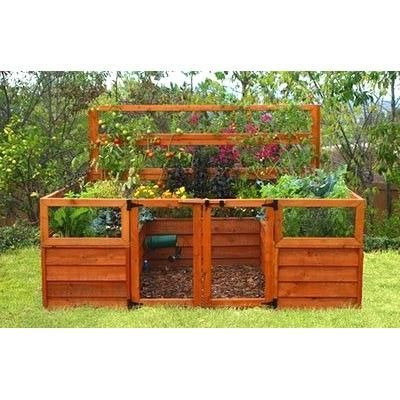 oasis cedar complete raised garden bed kit 8 x 8 x 20 - Raised Garden Bed Kit
