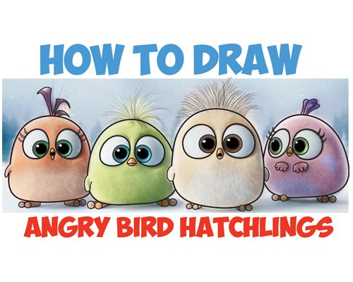 How To Draw Angry Bird Hatchlings Baby Birds Drawing Tutorial From Rhpinterest: Angry Birds Hatchlings Coloring Pages At Baymontmadison.com