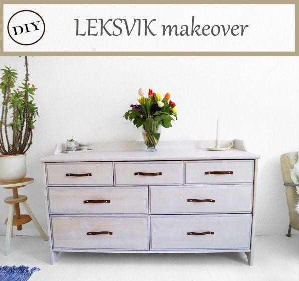 IKEA LEKSVIK makeover Dekor, Diy interior und Dunkles holz