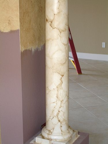How To Paint Marble Columns A Primer Marble Columns Faux
