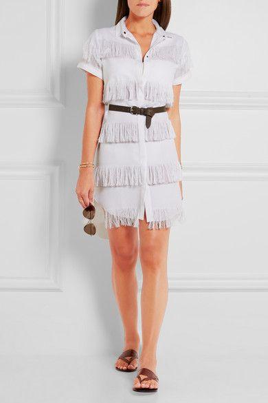 Prism | Negril fringed cotton-gauze shirt dress | NET-A-PORTER.COM