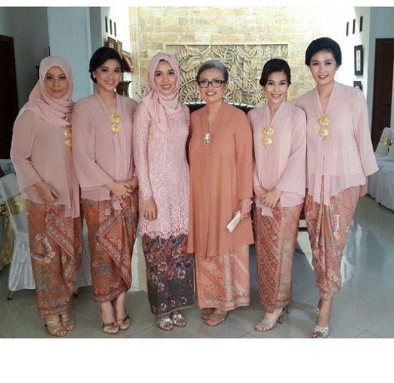 Model Kebaya Ibu Ibu Modern Busana Batik Gaun Batik Pakaian Tradisional