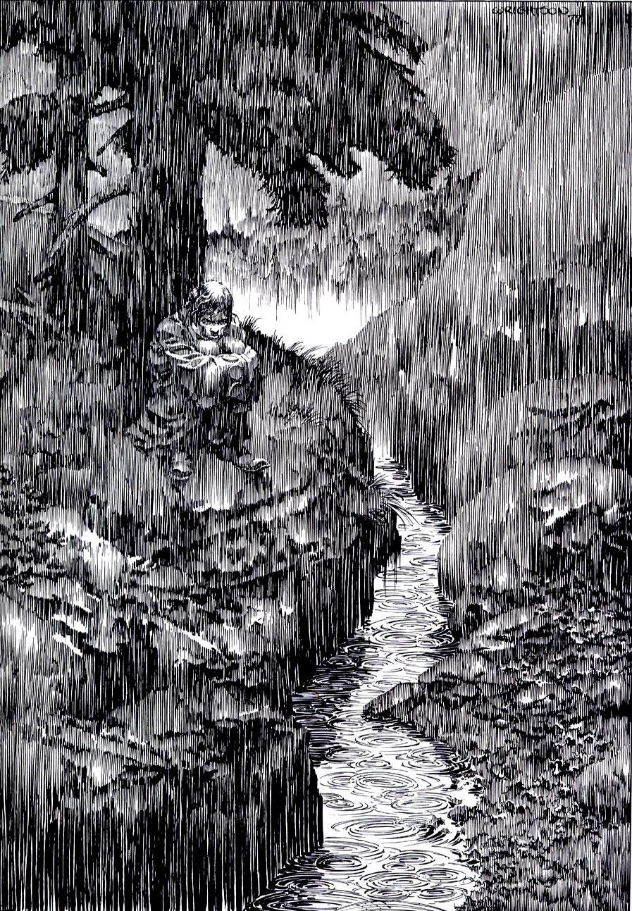 Image result for bernie wrightson frankenstein rain