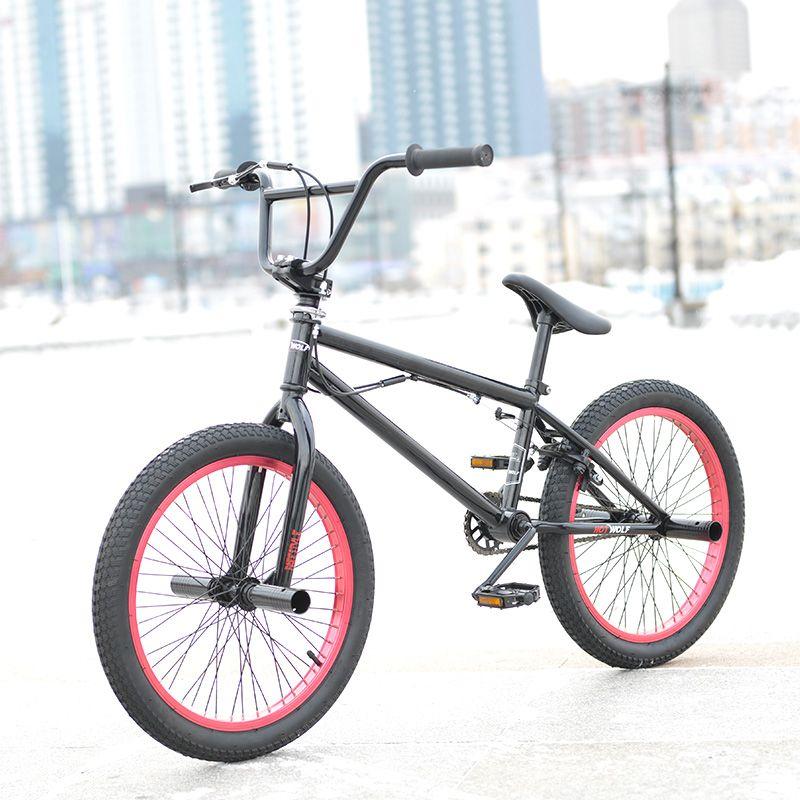 20 Inch Bmx Bike Steel Frame Performance Bike Purple Red Tire Bike