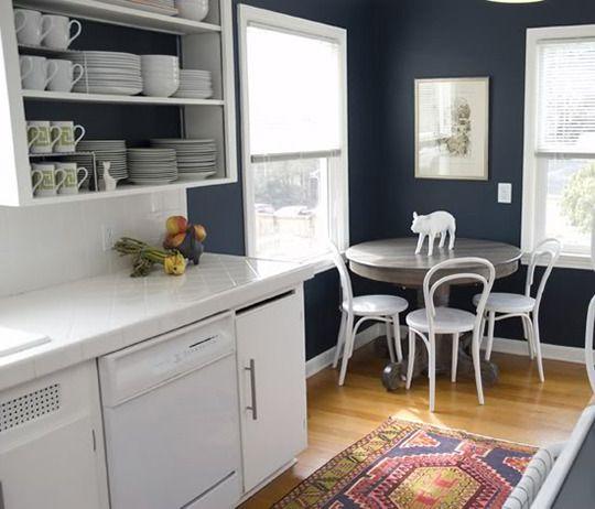 Best Paint Color Portfolio Navy Blue Kitchens Dark Blue 640 x 480