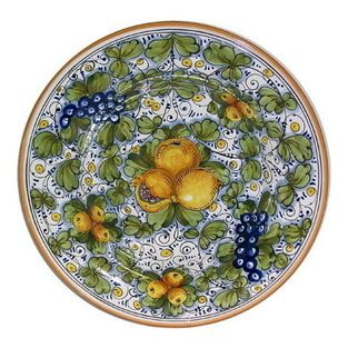 Artistica - Hand Made in Italy - TUSCANIA Wall plate centerpiece (19D.)  sc 1 st  Pinterest & Artistica - Hand Made in Italy - TUSCANIA: Wall plate centerpiece ...