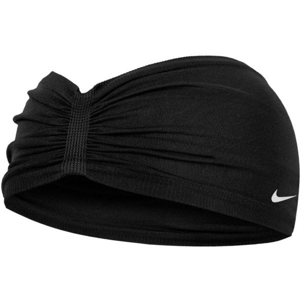 Nike Shirred Headband ( 15) ❤ liked on Polyvore featuring accessories 33822101ac9