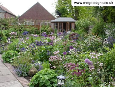Cottage Style Garden Plans In Sun Stylish Solutions Low