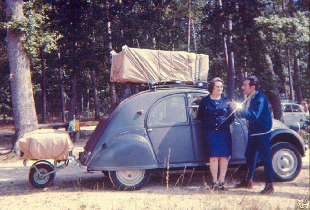 citro n 2cv remorque mono roue en camping dans la for t sc nes de vie pinterest 2cv. Black Bedroom Furniture Sets. Home Design Ideas