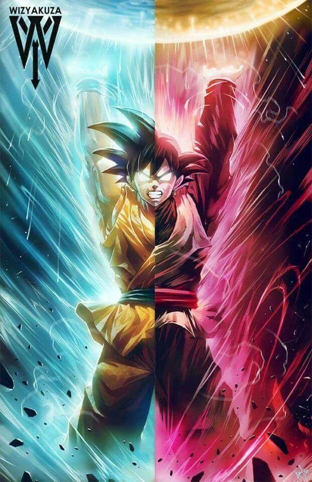 Goku and Black Goku | Dragon Ball Saga | Pinterest | Black
