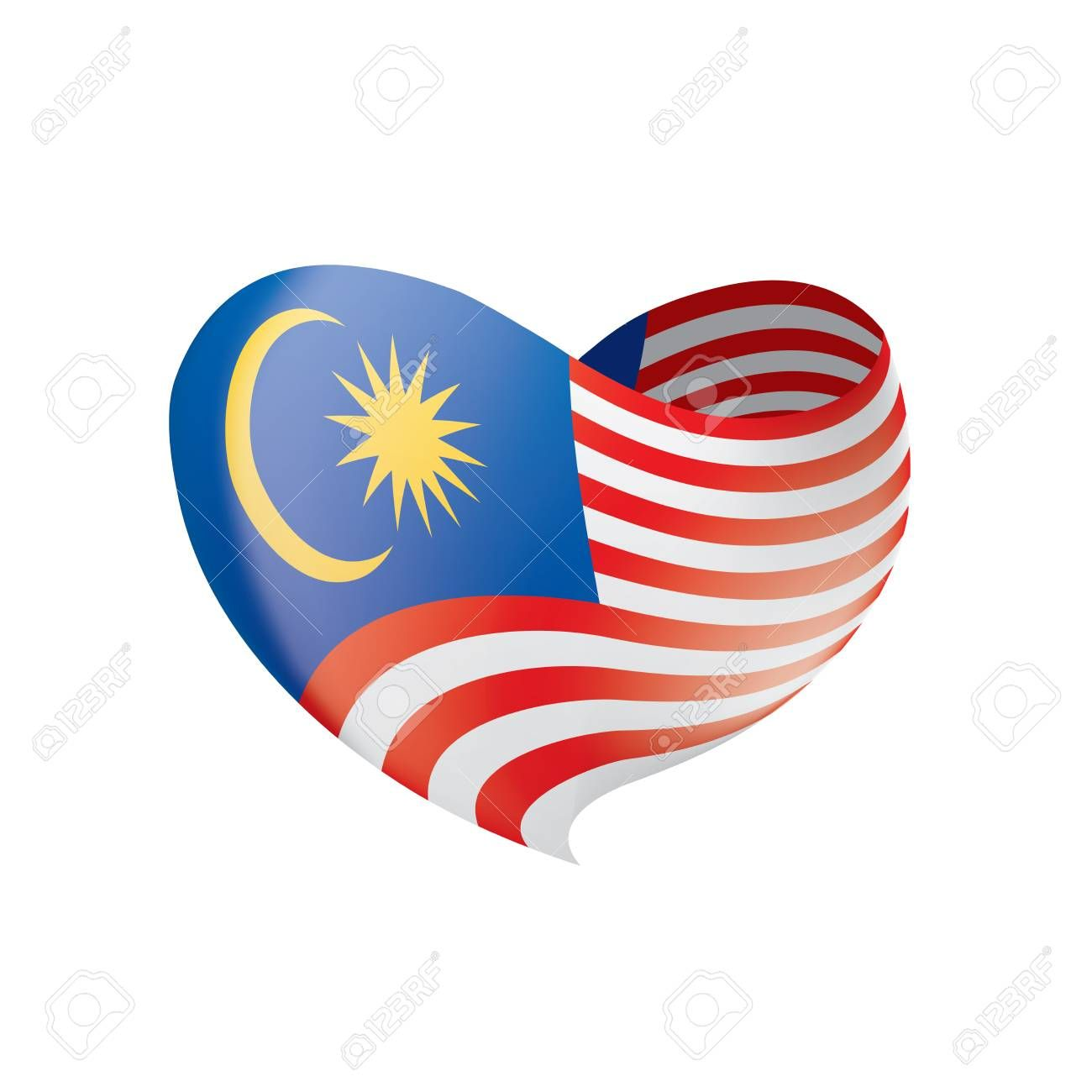 Malaysia Flag Vector Illustration On A White Background