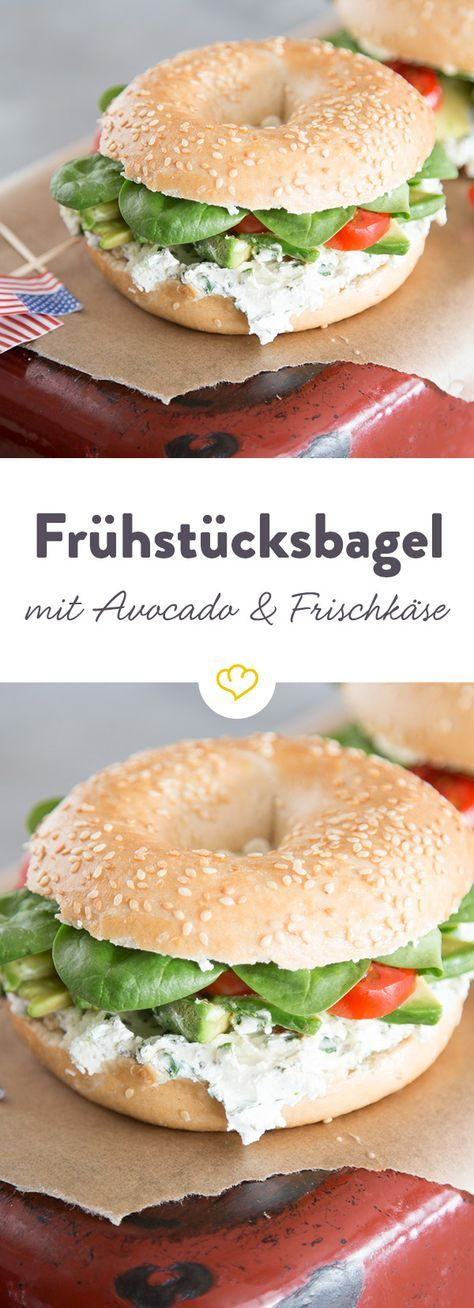 avocado frischk se bagel der herzhafte sandwich kringel rezept fr hst ck pinterest. Black Bedroom Furniture Sets. Home Design Ideas