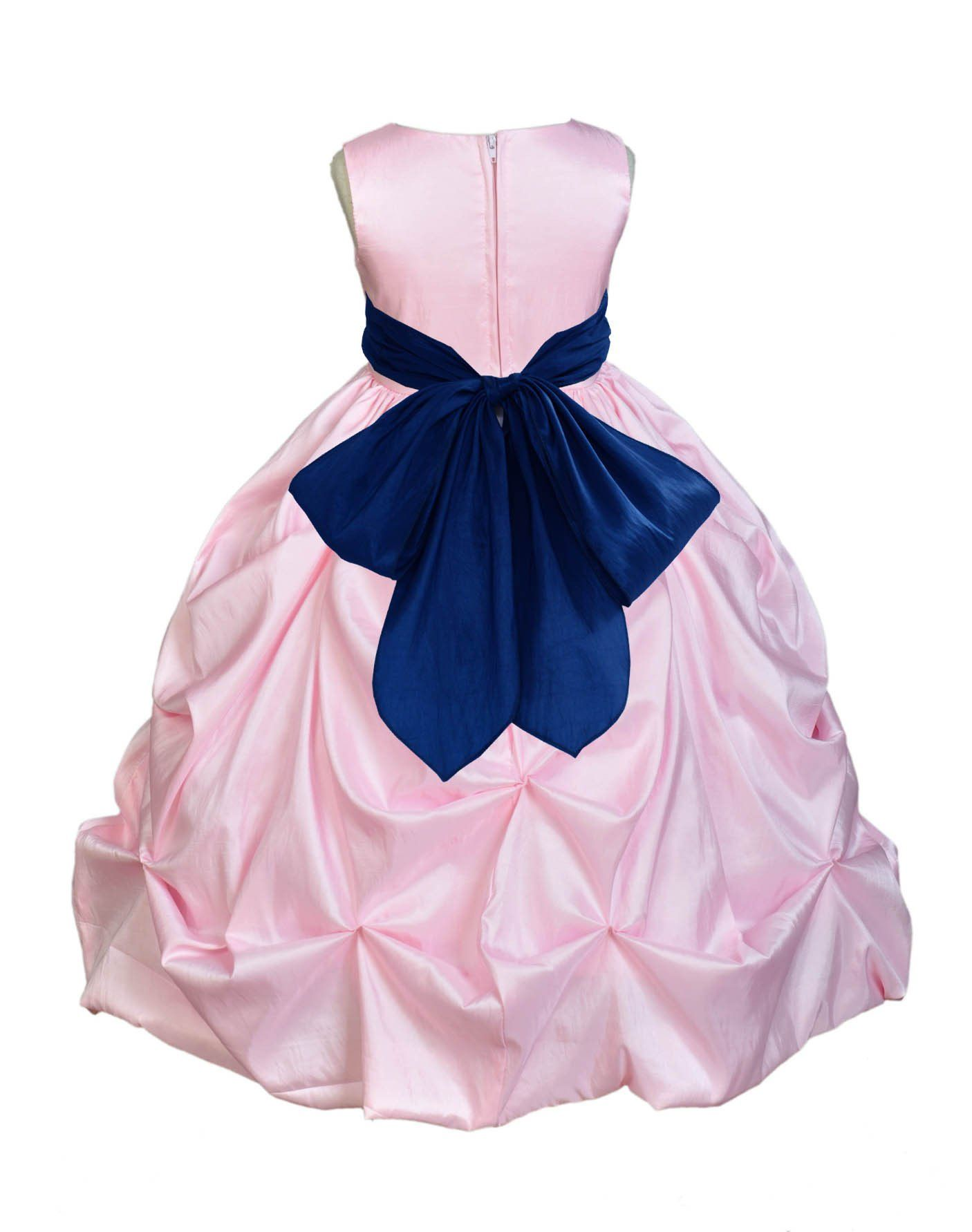 Pink bubble taffeta formal bridesmaid beauty pageant special