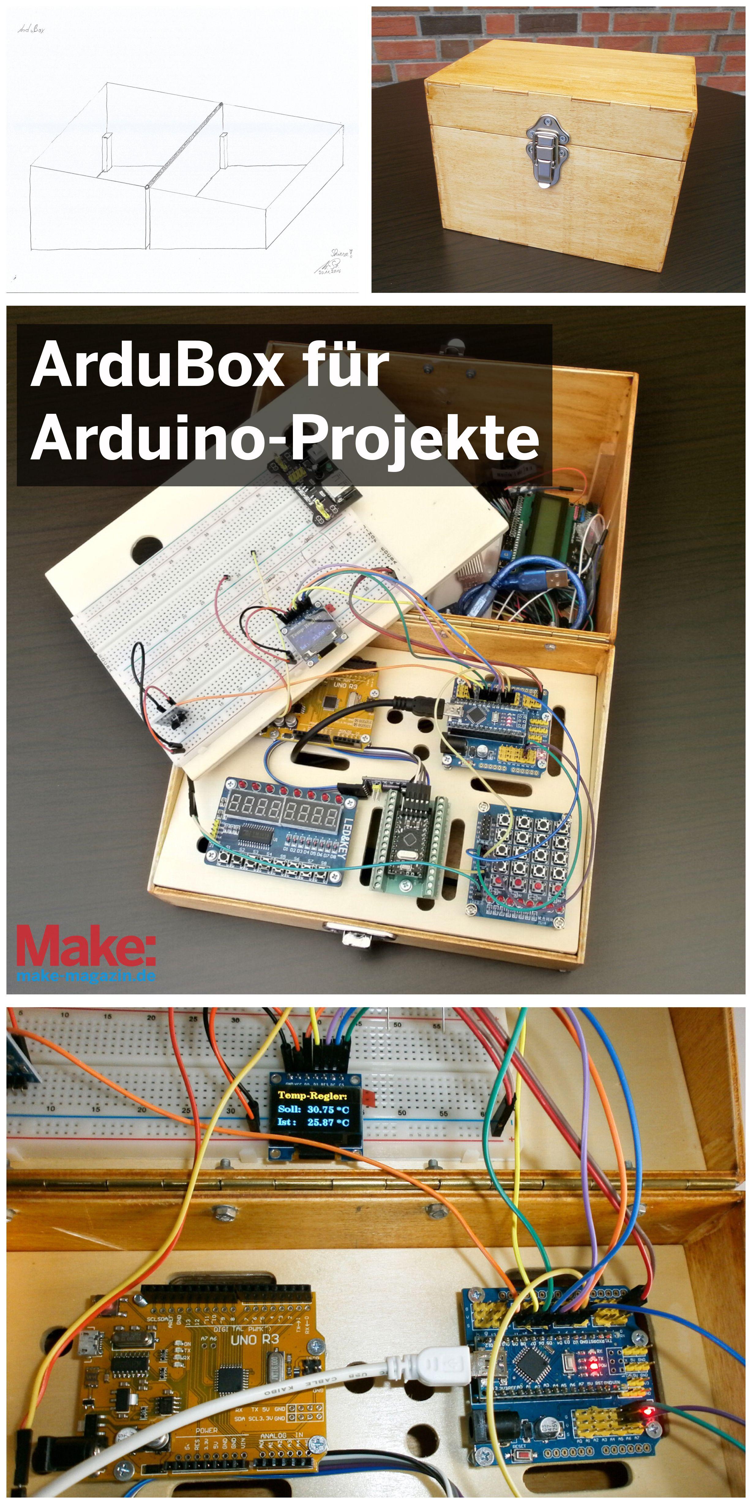 ardubox: eine box für arduino-projekte | elektronik in 2018