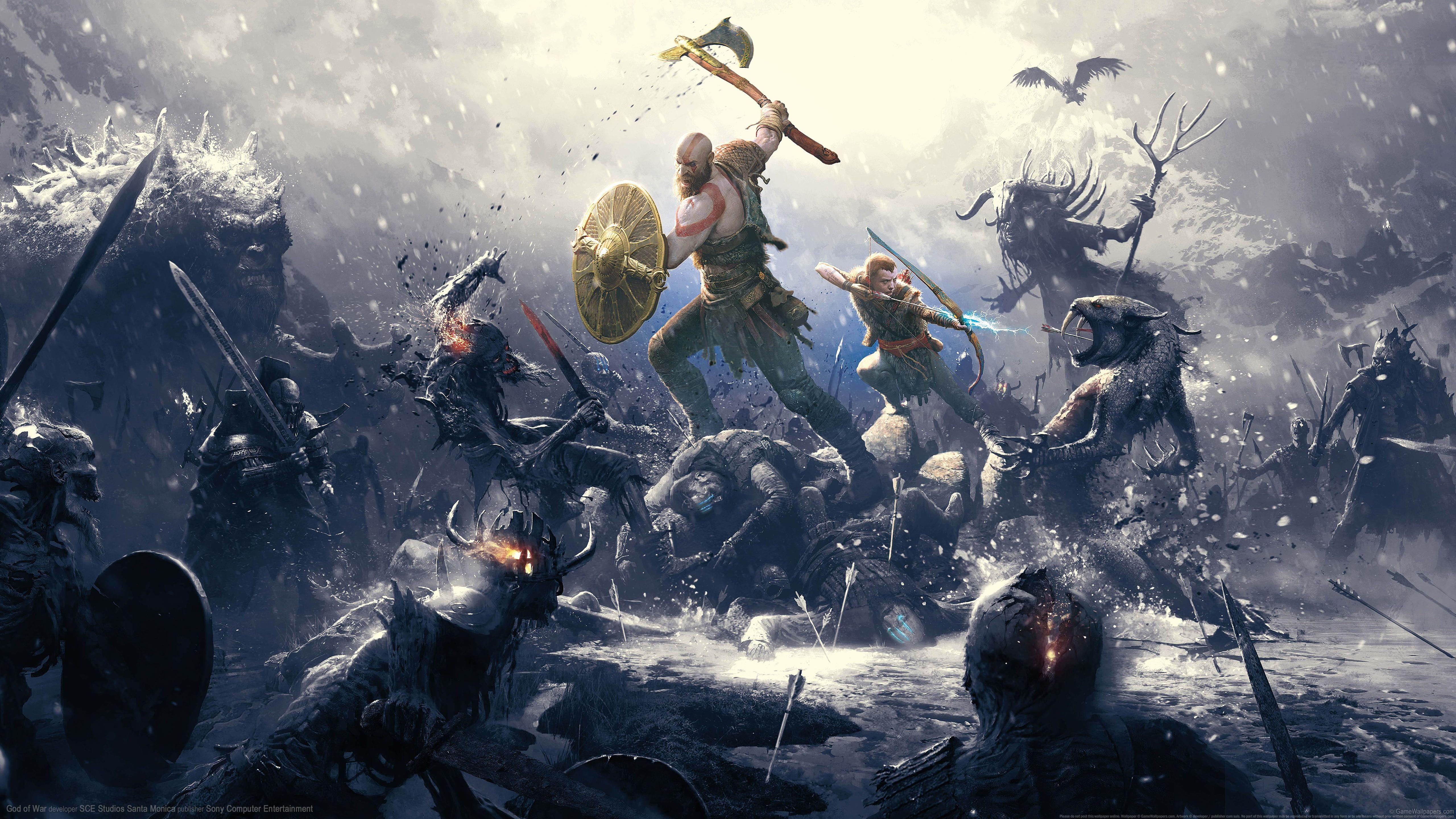 God Of War God Of War 2018 Digital Art Video Game Art Video Games Kratos 5k Wallpaper Hdwallpaper D Digital Art Videos Game Art Video Game Art Wallpaper